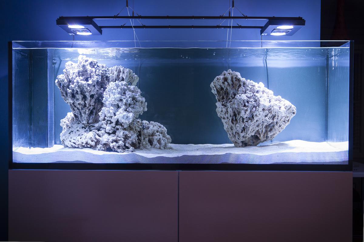 Upper corner cabinets - Chris Algae Farm Elos 160 Reef2reef Saltwater And